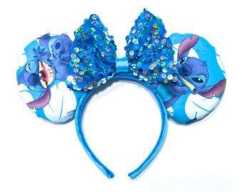 Coser orejas de ratón hecha a mano - Lilo y puntada ratón orejas - orejas - orejas - orejas de Mickey Mouse - Disney la puntada venda del oído - puntada de Minnie Mouse