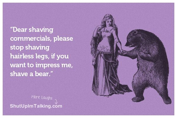 Hahaha I'm sure the ladies would agree! ;) shutupimtalking.com <- amazing ecards!