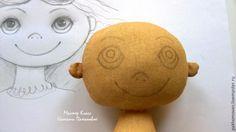 Naučte se, jak oživit textilní panenku: malování na obličej - jarmark Masters - ruční práce, ruční práce