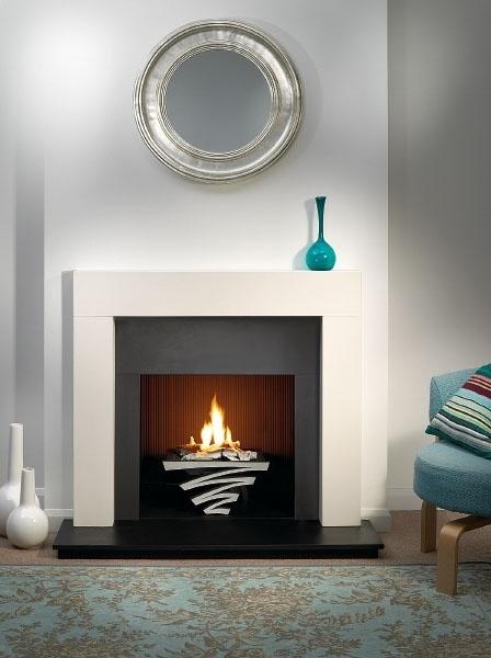fireplace modern clean