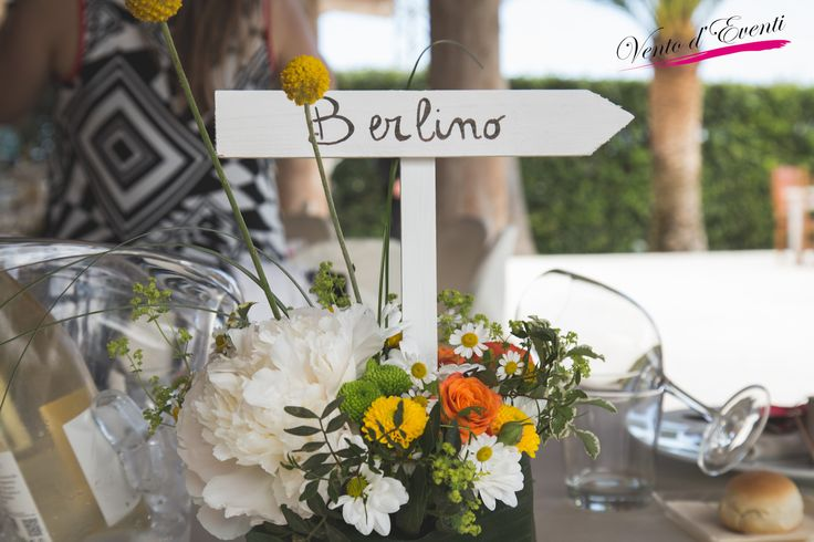 Ethnic/country centerpiece, wedding in Italy