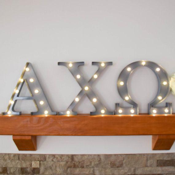 Luces de letra griega Chi / luz de marquesina