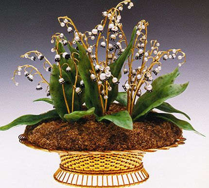 House of Faberge Imperial Lilies-of-the-Valley Basket