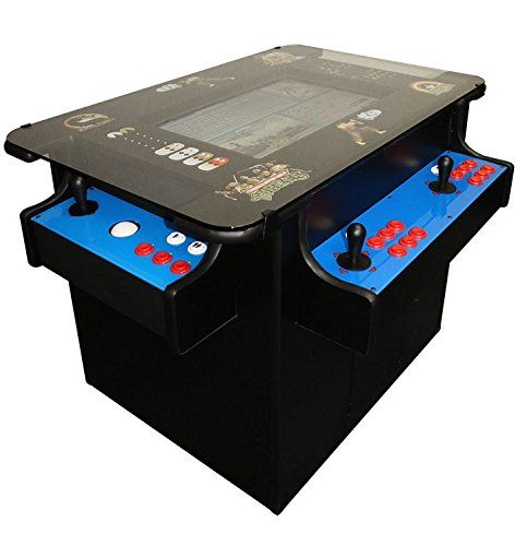 Commercial Grade Ultimate Cocktail Aracde with 1033 games! Plays vertical (Ms Pacman) and horizontal (Super Mario Bros) on the same machine!. Ultimate Cocktail comes with 1033 games included! All titles are identical to the original. This game can play both vertical (Frogger) and horizontal (Super Mario) games on the same machine with the flip of a switch! Game has two trackballs for vertical play and joysticks on three sides For a video of this game with options explained or for a full…
