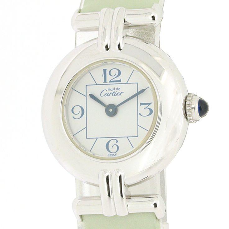 【商品名】カルティエ(Cartier) 2411 マスト ドゥ カルティエ クオーツ SV925 レザー レディース ホワイト文字盤時計【価格】¥99,800【状態】SA 2、3回使用程度の非常に綺麗な状態の商品です。