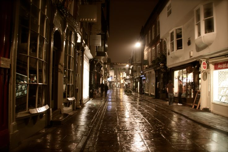 More York streets. Beautiful in the wet pavement. teron.se
