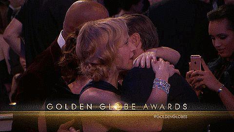 Leonardo DiCaprio and Kate Winslet at the Golden Globes 2016 | POPSUGAR Celebrity