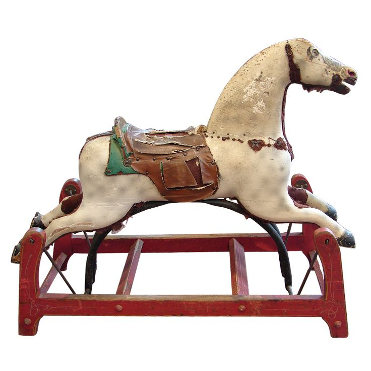 525 best Rocking horses images on Pinterest   Antique rocking horse. Wooden horse and Old fashioned toys