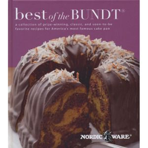 More than 60 years after its introduction, America still loves to bake a bundt® cake. Continue this homemade dessert tradition with wonderful classic, award winning and new recipes compiled by Nordic Ware®. Enjoy a classic like Tunnel of Fudge Cake, or award winning Tunnel of Cream Banana Nut Cake. Hard cover, color photos, 84 pages, ©2012.