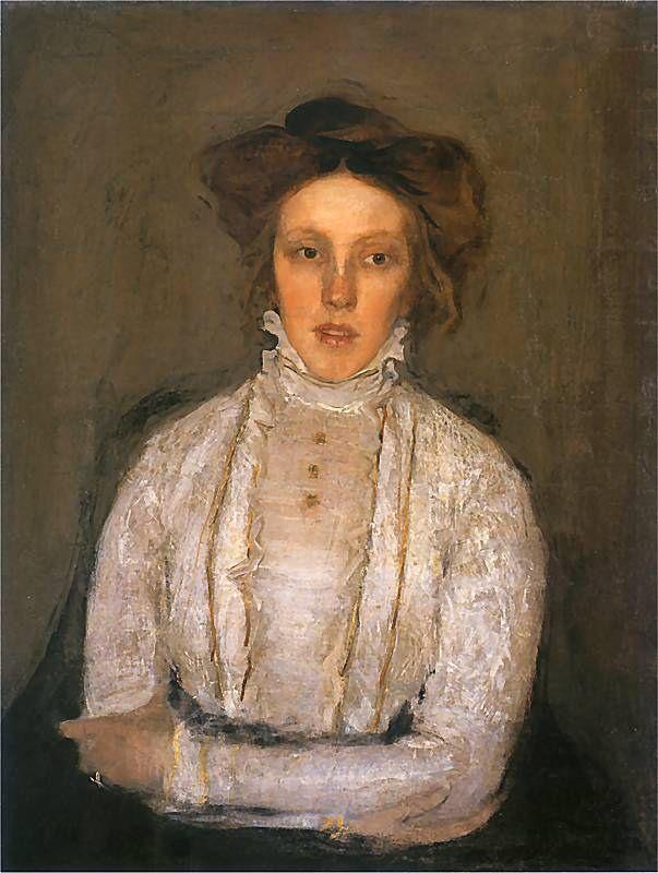 Konrad Krzyżanowski   Portrait of Jadwiga Gaszczyńska, 1907