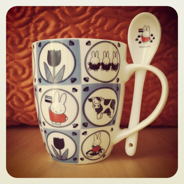Miffy mug with spoon