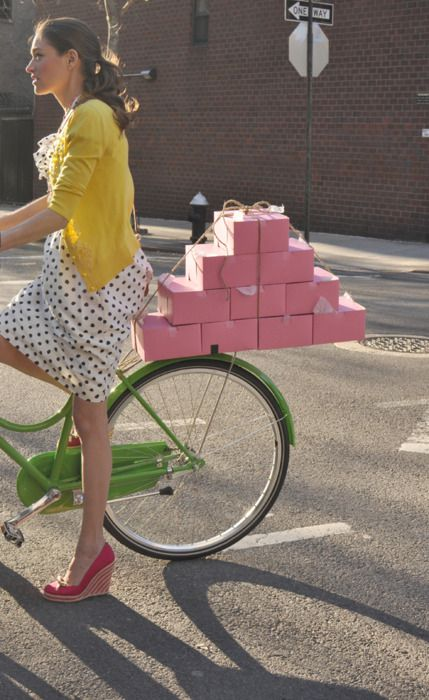 bicycle | adeline adeline/kate spade bike.  transporting sweets...my kind of girl