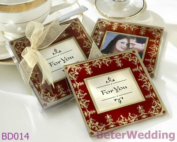 Free Shipping 300pcs=150box Royal Exquisite Glass Photo Coasters BD014@Beter Gifts       http://aliexpress.com/store/product/Wedding-Dress-Tuxedo-Favor-Boxes-120pcs-60pair-TH018-Wedding-Gift-and-Wedding-Souvenir-wholesale-BeterWedding/512567_594555273.html    #Souvenirs #crafts #eventplanner