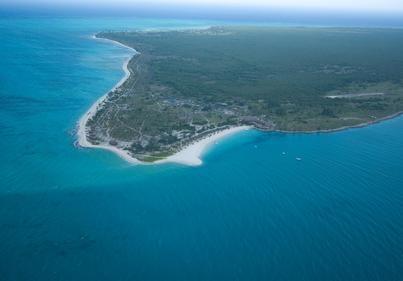 Matemo Island ariel view. Visit our website at www.raniresorts.com