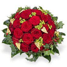 """Rote Rosen """"Scarlett"""" und Champagner """"Veuve Clicquot Rosé"""" der Premiumstrauß der Verliebten!  #rosen #roterosen #champagner #liebesgeschenk"""