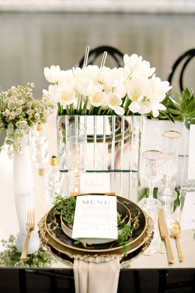 Best 25 mirror wedding centerpieces ideas on pinterest for Wedding reception centrepieces