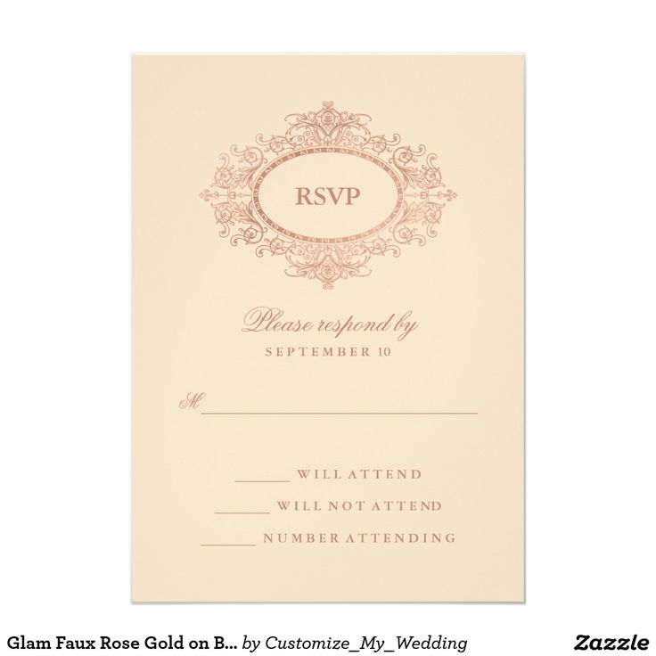 358 best Faux Gold Wedding invitations images on Pinterest | Gold ...