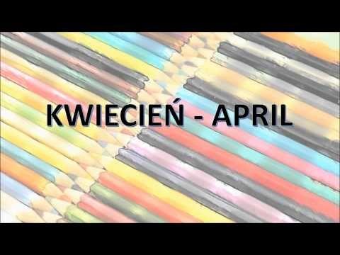 Pokoloruj Świat. Nauka Angielskiego dla dzieci - Miesiące - YouTube