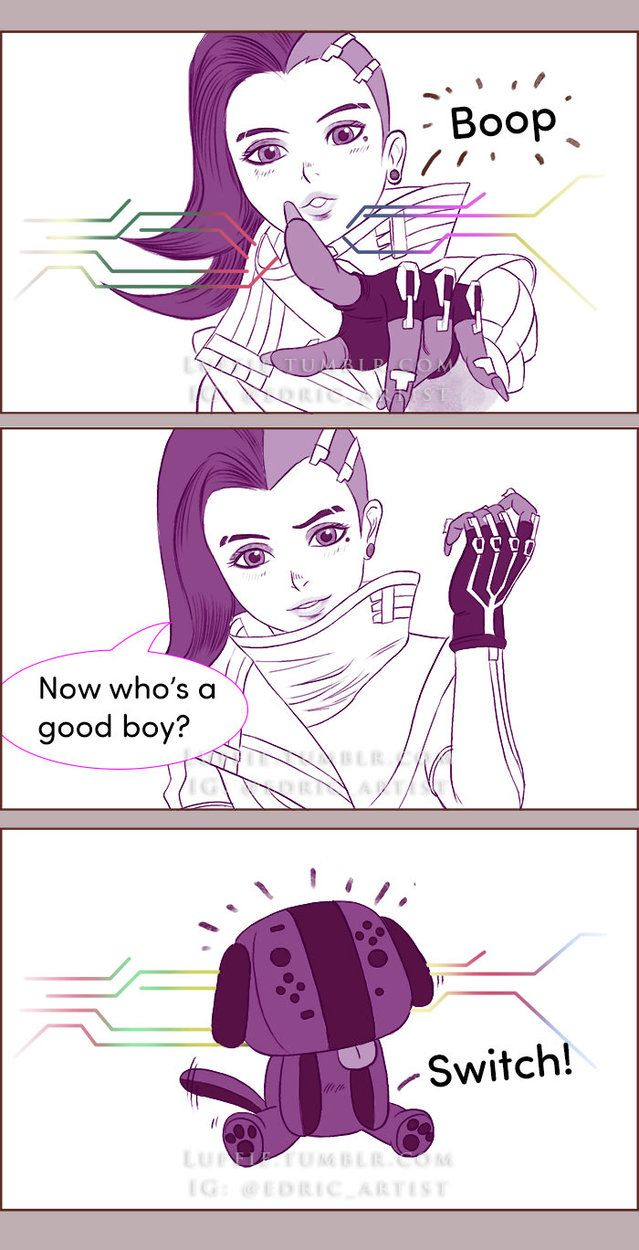 Sombra's Boop Ability by luffie.deviantart.com on @DeviantArt #overwatch #sombra #switch #nintendo #comic