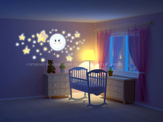 Wall decals fluo  kids Wall stickers fluo Bambini adesivi