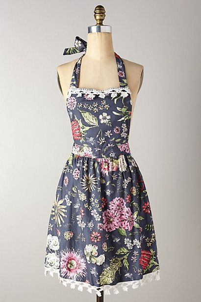 Anthropologie has such cute aprons. I wonder if they'd be as cute after I got bacon grease and flour all over them.