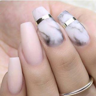 90 stylowych propozycji na long coffin manicure - Strona 22