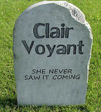 Halloween 'Clair Voyant' tombstone prop decoration 24