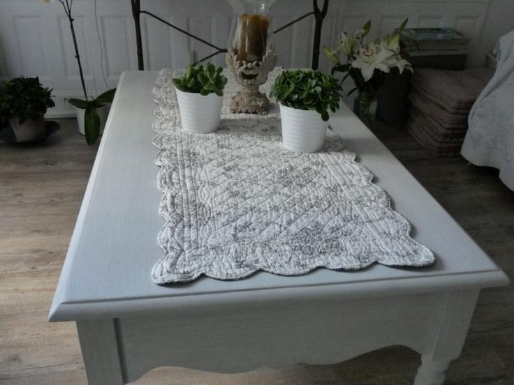 Chemin de table boutis toile de jouy chemin de table en for Chemin de table eurodif