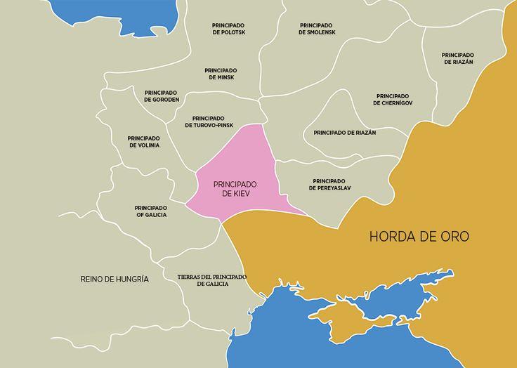 El Gran Ducado de Lituania (Siglo 14):  Tras la invasión de los tártaros en las tierras rusas se formó el estado de la Horda Dorada. Los príncipes lituanos crearon el Gran Ducado de Lituania, el mayor estado de Europa del Este.