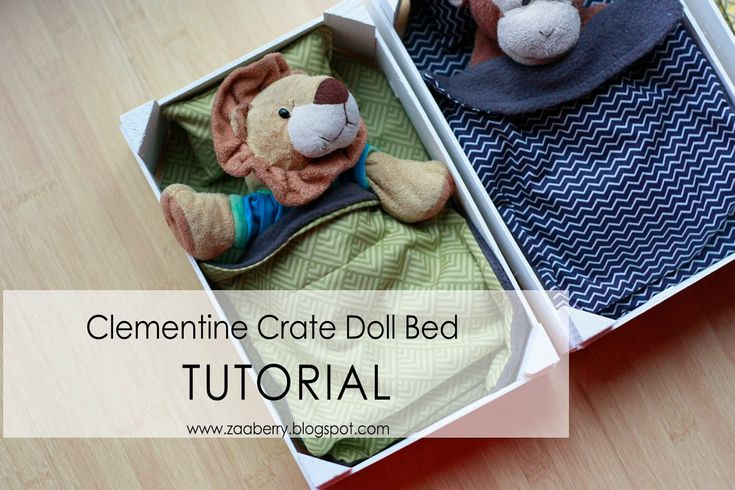 Doll Bed Tutorial- using clementine crates! | plushie patterns