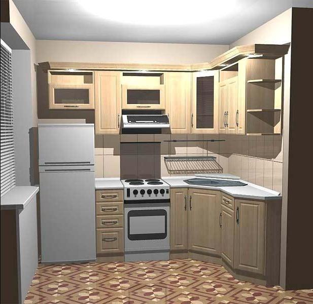 Дизайн маленькой кухни 5