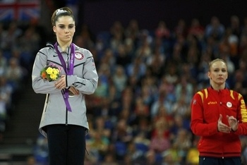 McKayla Maroney is not impressed with silver!