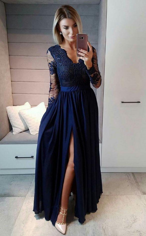 Prom Dress Long Sleeves Wine Red Formal #prom #promdress #dress #eveningdress #evening #fashion #love #shopping #art #dress #women #mermaid #SEXY #SexyGirl #PromDresses