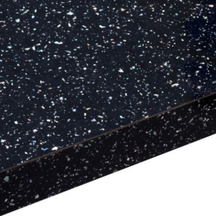 38mm B&Q Astral Black Laminate Square Edge Kitchen Worktop: Image 1