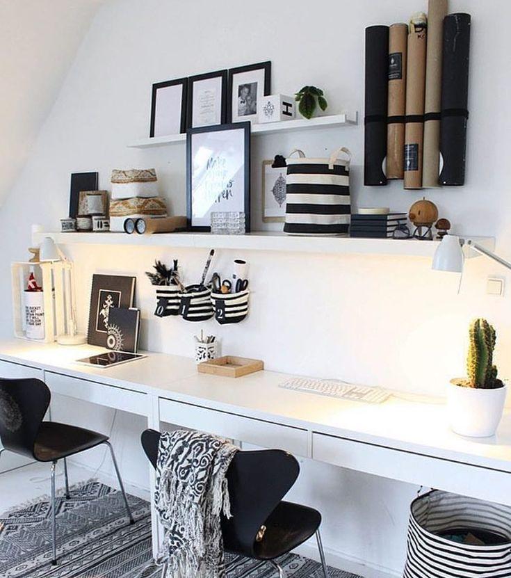 Ikea desks via @mynordicroom