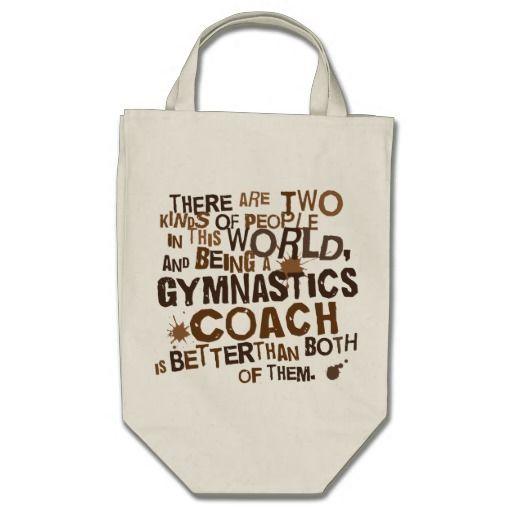 Cadeau d'entraîneur de gymnastique sac en toile épicerie