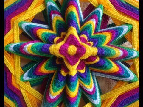 1 Tutorial como hacer puntas en mandalas tejidos - YouTube