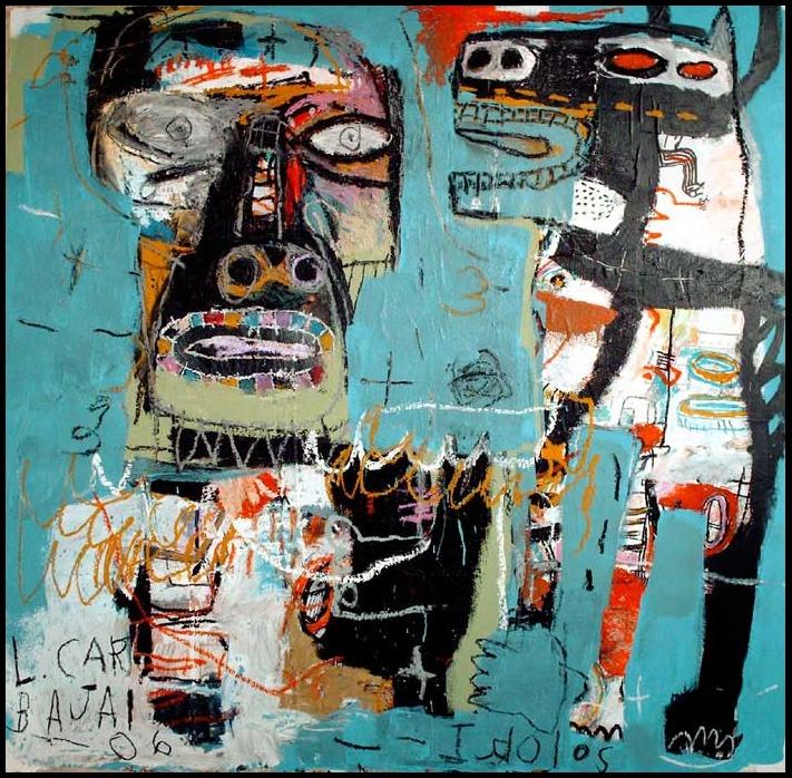 Com o uso de cores, linhas grossas e posicionamento de imagens o americano Lyle Carbajal explora o não intencional em suas telas. http://www.lylecarbajal.com/