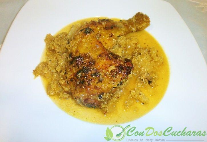 Receta de pollo caribeño | ConDosCucharas.com