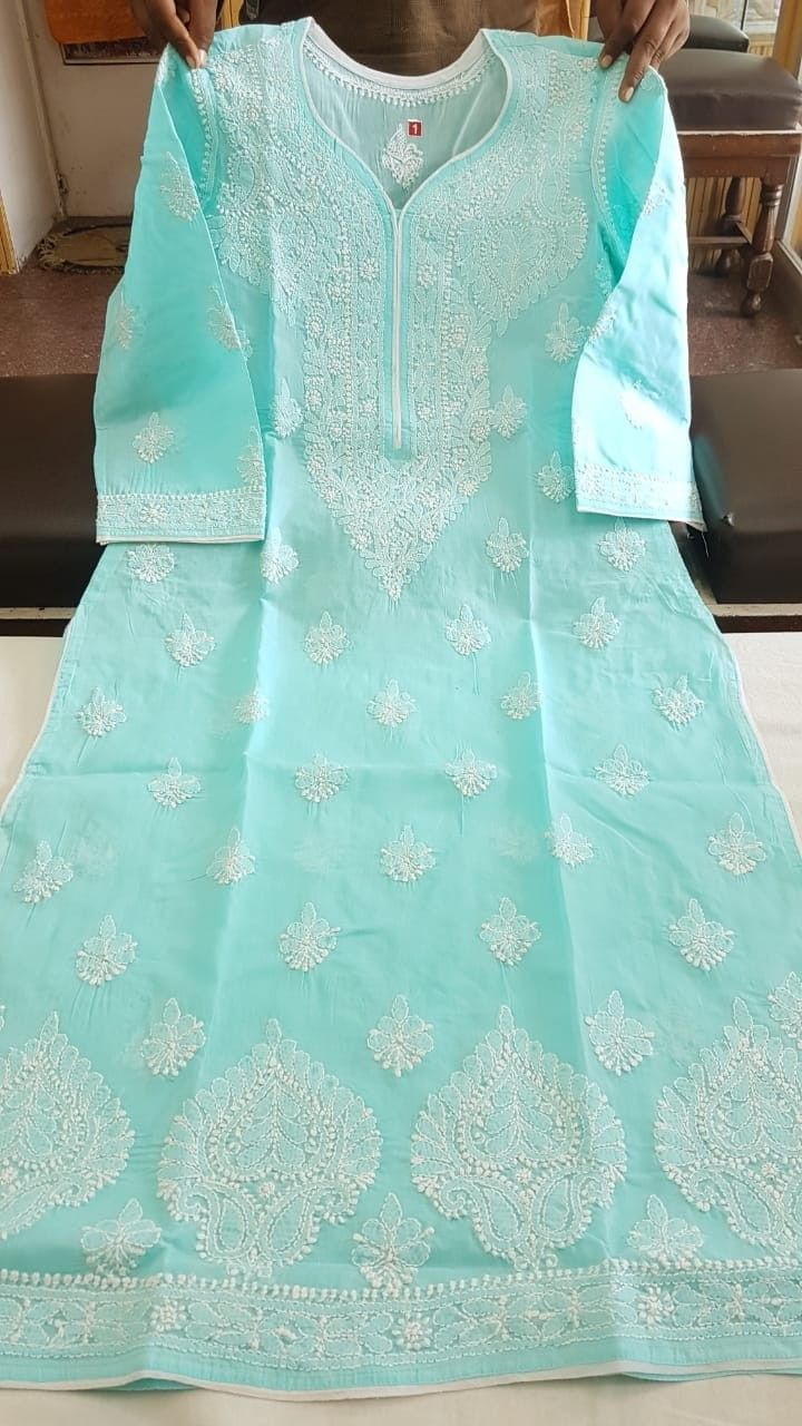 b443357d92a Pastel Chikankari at its best to keep you cool this summer ...