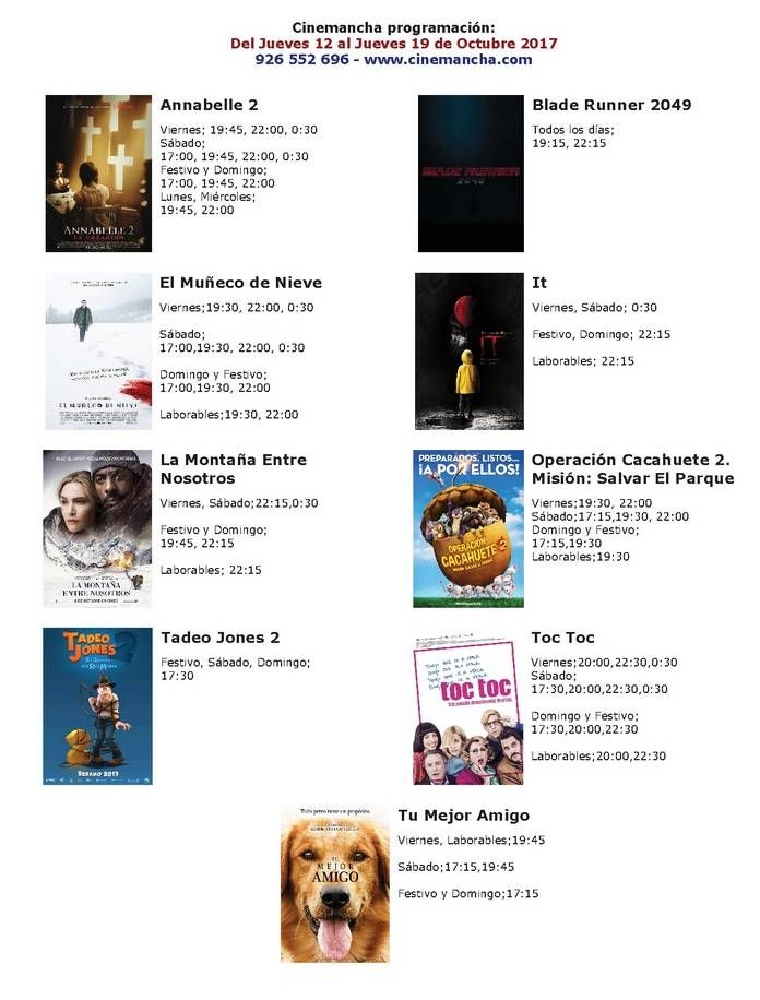 Cartelera Cinemancha del jueves 12 al jueves 19 de octubre - https://herencia.net/2017-10-12-cartelera-cinemancha-del-jueves-12-al-jueves-19-octubre/?utm_source=PN&utm_medium=herencianet+pinterest&utm_campaign=SNAP%2BCartelera+Cinemancha+del+jueves+12+al+jueves+19+de+octubre