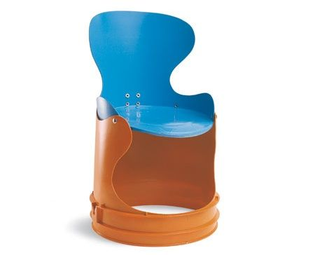 Omg!! Kids chair made out of buckets how awesome!