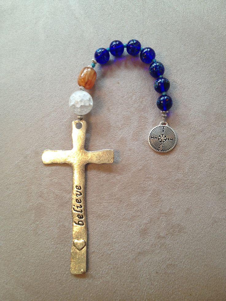 Handmade pocket Christian prayer beads.