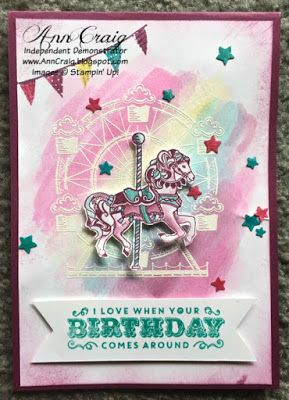 Stampin' Up!® Australia: Ann Craig - distINKtive STAMPING designs: Colourful Carousel Birthday