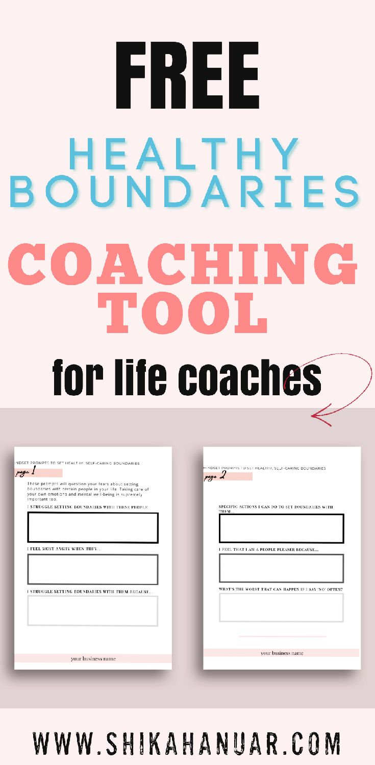 How To Coach Clients To Set Healthy Boundaries Pdf Worksheet For Healthy Boundaries Mindset Shift Shikah Anuar Life Coaching Worksheets Setting Healthy Boundaries Healthy Boundaries Worksheets