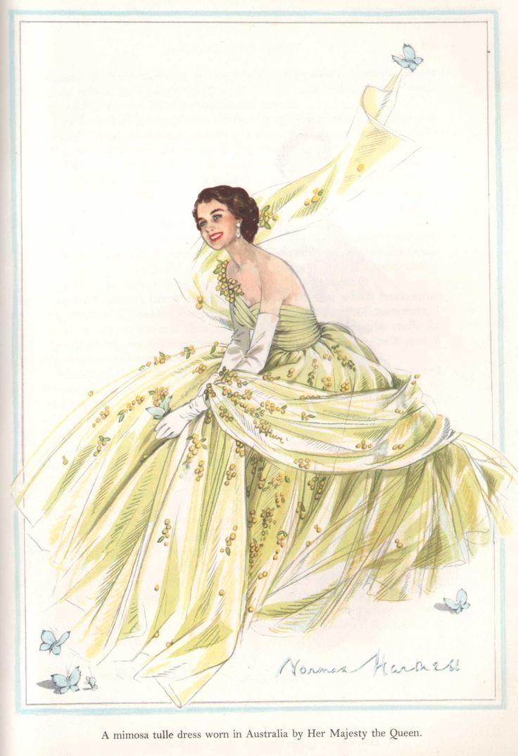 Norman-Hartnell-Queen-Elizabeth-11-tulle-dress-1950s.   britain
