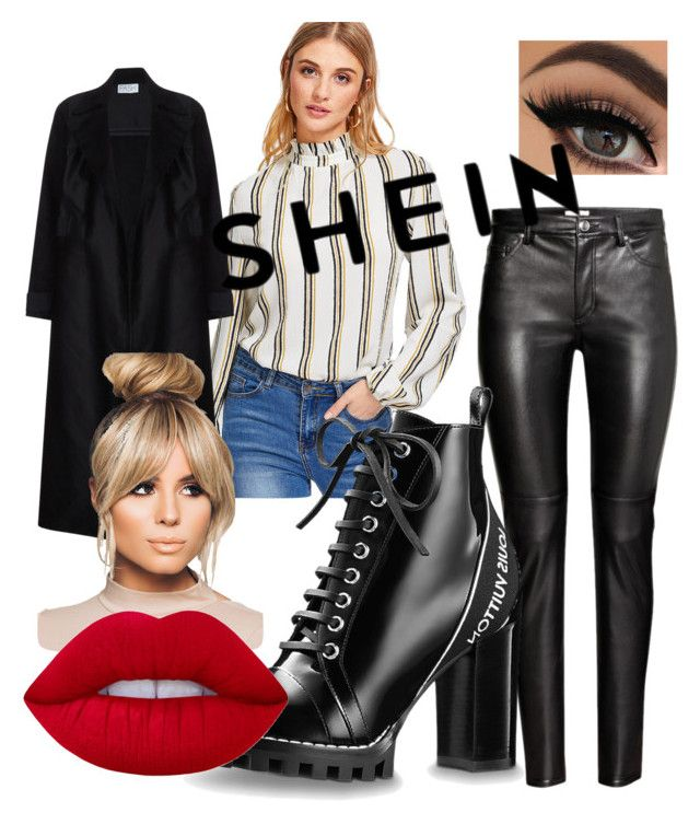 """SheIn:  Black outfit"" by drumeaclementina on Polyvore featuring Lime Crime"