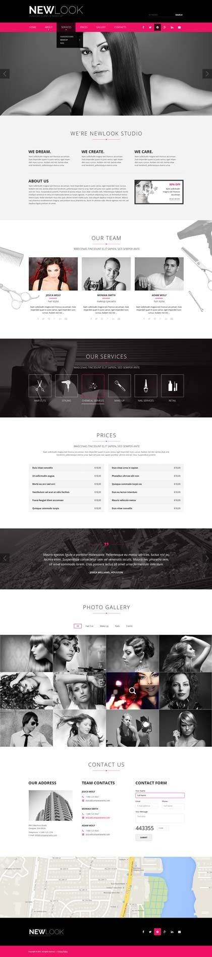 #Hairdressing Html #website #template Price - $29