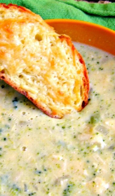 Creamy Chicken Broccoli and Cheese Soup recipe