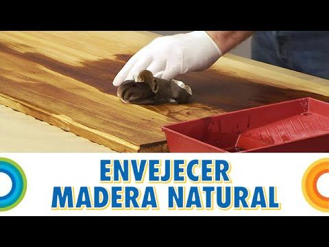 Cómo pintar madera con efecto envejecido pátina - YouTube